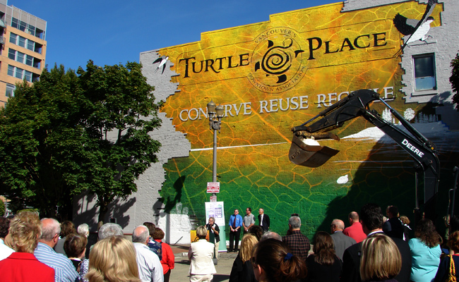 picture of turtle place mural